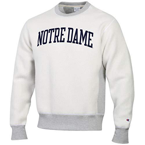 Champion Men's NCAA Inside Out Reverse Weave Crew Sweatshirt-Notre Dame Fighting Irish-Large - Notre Dame Irish Crew Sweatshirt