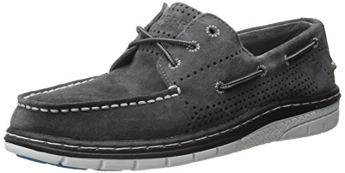 Sperry Top-Sider Mens Billfish Ultralite Perf Suede Boat Shoe Grey
