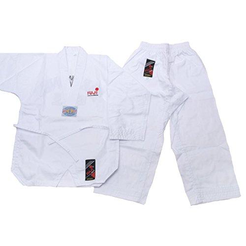 Fujimae-Zapato de Taekwondo Slip-On. blanco