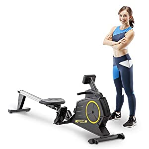 CIRCUIT FITNESS Circuit Fitness Deluxe Foldable Magnetic Rowing Machine with 8 Resistance Settings & Transport Wheels…