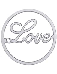 MS Koins Stainless Steel Love Coin Fits Our Coin Locket System, 30mm Diameter