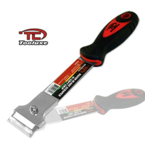Tooluxe Razor Blade Scraper Stainless with Soft Grip