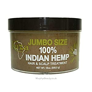 kuza 100 % indian hemp hair and scalp treatment 18 oz