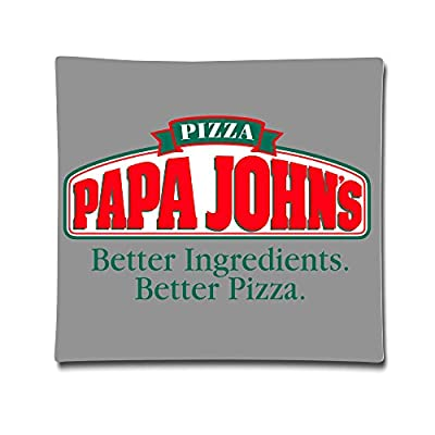 "DEMOO Papa John LOGO Pillow Case Cushion Cover (18""x 18"")"