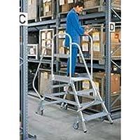 Aluminium-Podestleiter, Ambos Lados Accesible, 7 Niveles Altura