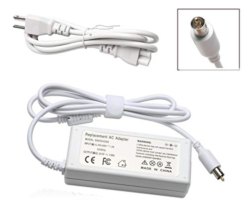 BULL-TECH 24.5V 2.65A 65W Replacement Ac Laptop Adapter Charger Replacement for Apple Powerbook G4,iBook,iBook G4,White