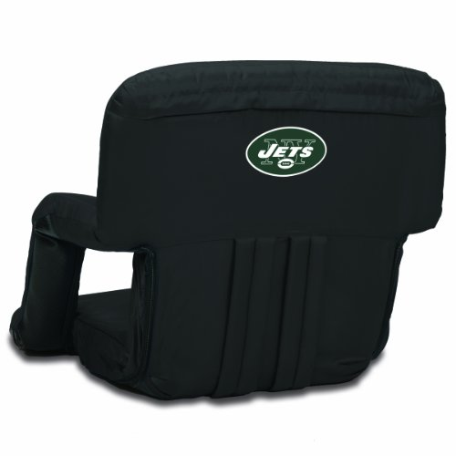 PICNIC TIME NFL New York Jets Portable Ventura Reclining Stadium Seat by PICNIC TIME
