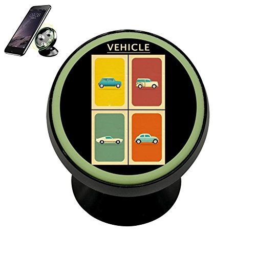 Cnlacek Stylish Sedan Car Magnetic Phone Support Car Mount Holder Noctilucent Function Cell Phone Universal Black ()