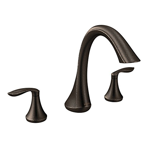 Moen T943ORB Eva Two-Handle High-Arc Roman Tub Faucet without Valve, Oil-Rubbed Bronze