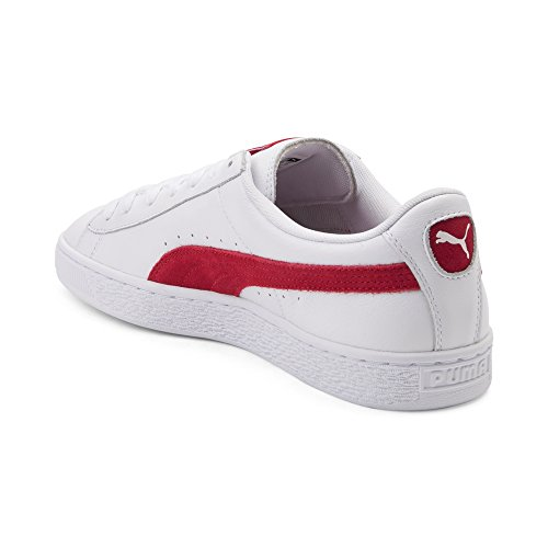 Puma Heren Mand Classic Badge Fashion Sneaker Mand Wit Rood 1694