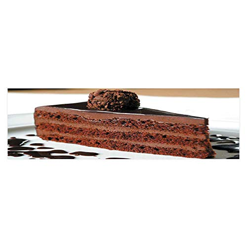 (Dragonhome Aquarium Collage Cake Truffle with Black Chocolate Sauce Paper Fish Tank Backdrop Static Cling Wallpaper Sticker L29.5 x H21.6)