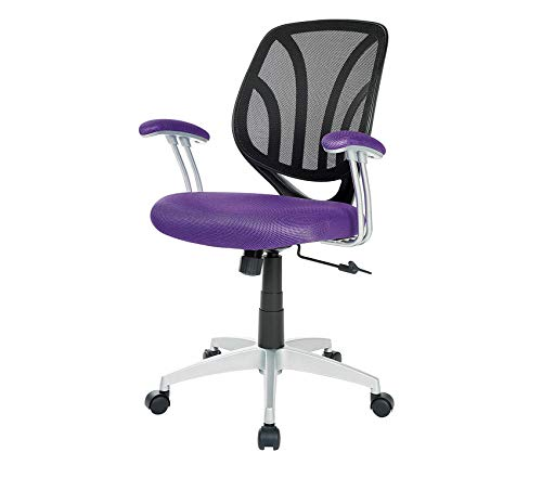 Wood & Style Office Home Furniture Premium Screen Back Office Task Chair Purple