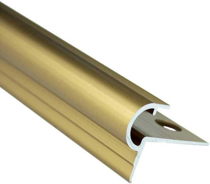 Alu Stufenprofil Fliesenschiene Profil Treppe Schiene gold matt L300cm H10mm gold