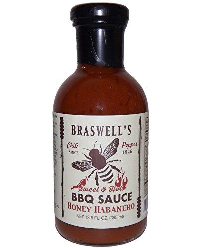 Braswell Sauce Barbeque Honey Habanero, 13.5 oz - Mustard Habanero Honey