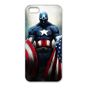 Captain Americ iPhone5s Cell Phone Case White TPU Phone Case SY_760836