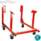 SKEMiDEX--- New Engine Cradle Stand Chevrolet Chevy Chrysler V8 1000lb with Dolly Wheels 1000lbs loading capacity. Use it to store, transport, and work on engines while they are out of the car.