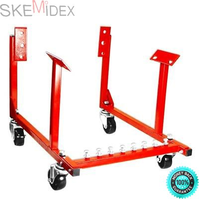 SKEMiDEX--- New Engine Cradle Stand Chevrolet Chevy Chrysler V8 1000lb with Dolly Wheels 1000lbs loading capacity. Use it to store, transport, and work on engines while they are out of the car. by SKEMiDEX (Image #3)