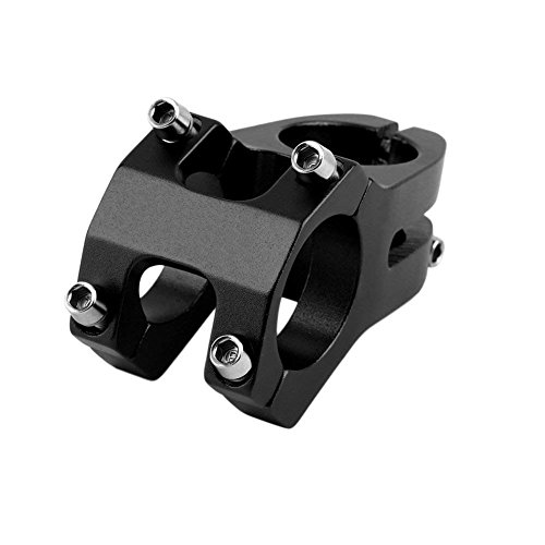 Three BY Bike Stem 31.8 Bike Stem 45mm Short Handlebar Mountain Aluminium Alloy for Most Bicycle,MTB,BMX,Fixed Gear Bicycle,Cycling-Black