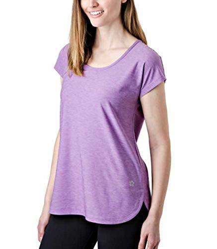 Tuff Ladies' Active Keyhole Tee, Variety (XL, Pansy Purple)