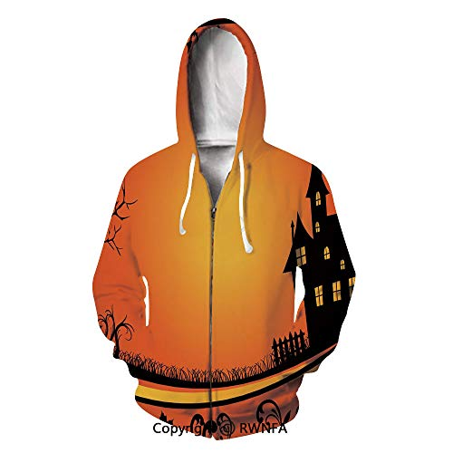 Men's Hoodies Soft Halloween Branches Leaves Gothic Hooded Sweatshirts]()