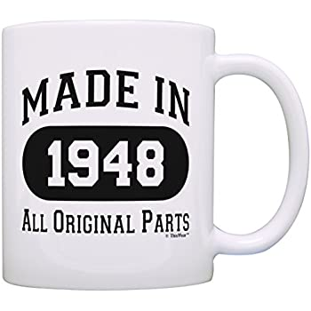 70th Birthday Gift Made 1948 Party Decorations Coffee Mug Tea Cup White