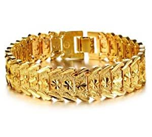 Wrist Chain 24k Urparcel Gold Plated Noble Men's Women's Bracelets New Design Bangle