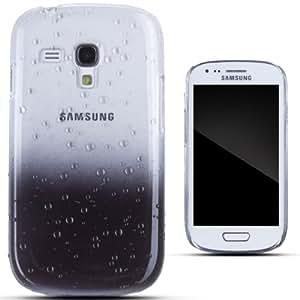 Zooky® negro plástico duro gota de agua funda / carcasa / cover para Samsung Galaxy 3 MINI (I8190)