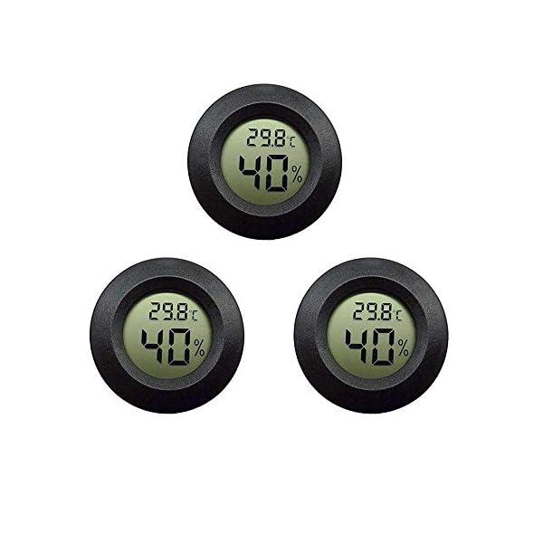 Thlevel 3PCS Mini LCD Digitale Termometro Igrometro Temperatura Umidità Misuratore 1