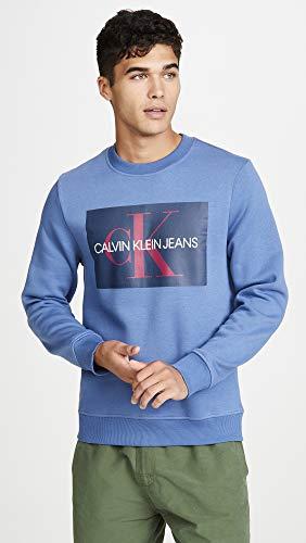 Calvin Klein Men's Monogram Logo Crew Neck Sweatshirt