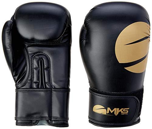 Luva de Boxe Gold, Tamanho 12Oz, MKS, Prata e Dourada