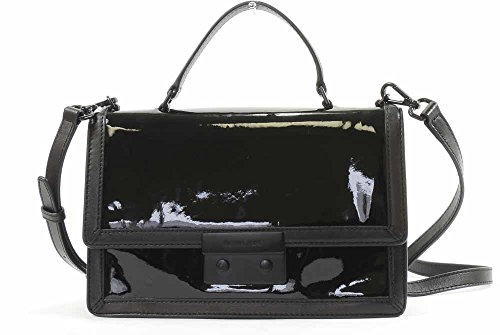 Michael Kors Patent Leather Callie Frame Out Messenger Me...