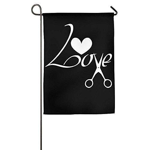 TT&Flag Love Scissors Barber Hairstylist Funny Home Backyard Decorative Flag For (Cute Halloween Hair Ideas)