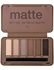 BYS On-The-Go Eyeshadow Palette,Six Shades with Mirror...