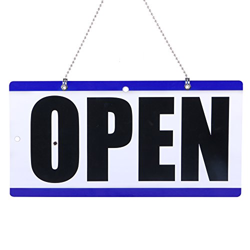 Eagle Open and Closed Plastic Hanging Sign with''Will Return'' Clock, 6 X 11.5 Inches by Eagle (Image #2)