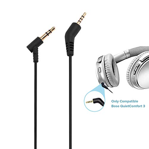 Asobilor QC3 Replacement Cable 1.4Meters 3.5mm to 2.5 mm Audio Cord for Bose QuietComfort 3 Headphone - Gold Plated Jacks Compatible with iOS & Android