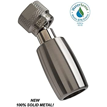 high all metal watersense certified 18 gpm high efficiency low flow showerhead available in chrome brushed nickel oil rubbed bronze