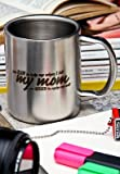 HotMuggs My Mom Stainless Steel Double Walled Mug, 350ml, Silver