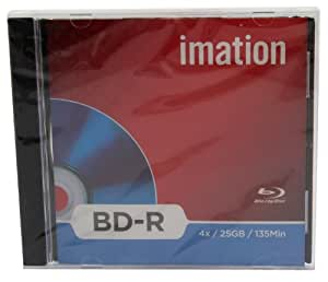 Imation 19989 - Pack de 5 Blu-ray BD-R (25 GB, 1x-4x)