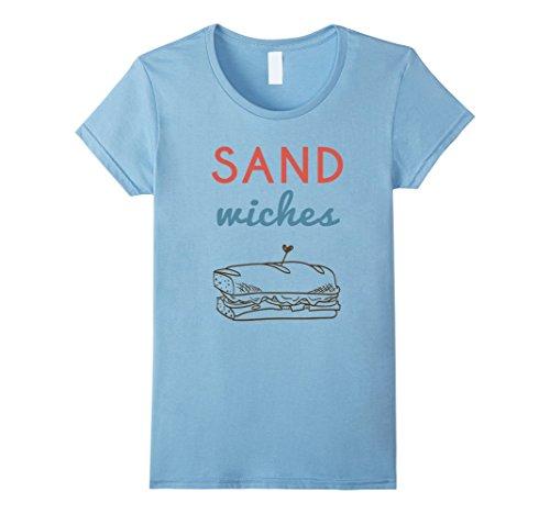 Womens Matching Couples T-shirt #2, Sandwiches, BFF, Zany Brainy Small Baby Blue