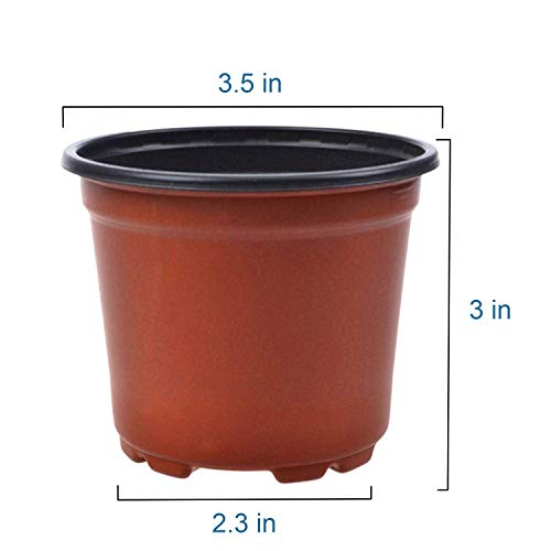 Coolrunner 50 PCS 3.5 Inch Plastic Flower Pots Plant Nursery - Import It All  sc 1 st  Importitall & Coolrunner 50 PCS 3.5 Inch Plastic Flower Pots Plant Nursery ...
