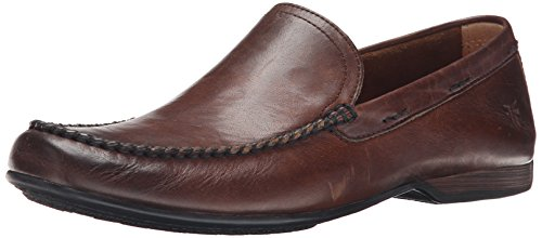 FRYE Men's Lewis Venetian Loafer, Dark Brown-80259, 10.5 M US