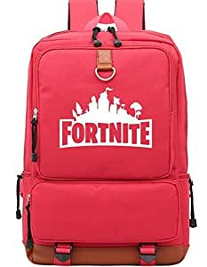Fortnite designer classic cool School Bookbag backpack Travel Rucksack Fits up to 17 inch Laptop Bag for men,women girls and boys, BC215 red