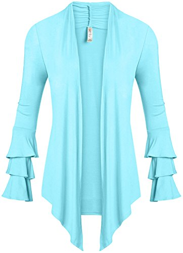 (Baby Blue Cardigan Sweater for Women Light Blue Cardigan Plus Size and Regular,XXX-Large,Baby Blue)
