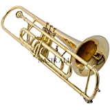 TROMBONE Bb PITCH BRASS FOR SALE WITH FREE HARD CASE AND MP