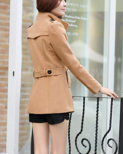 Slim Quge Manteau Trench Femme Manteau Chaud Casual Jacket vEqSEZw