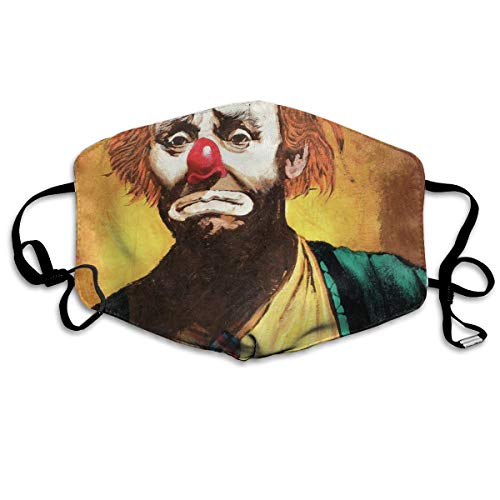 Breathe Healthy Face Mask Famous Clown Comfortable, Reusable - Keep Out Dust,Pollen,Allergens Flu Germs Dust Mask ()