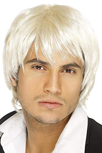 Smiffys Men's Short Blonde Wig, One Size, Boy Band Wig, -