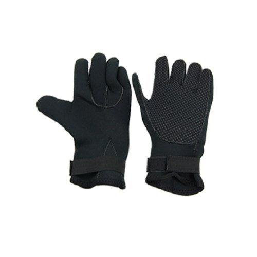 eDealMax 1 paire Noire en néoprène 3 mm Nonslip Gants de Natation plongée Diver Taille M