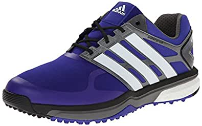 adidas Men's Adipower s Boost Golf Shoe, Night Flash/Running White/Dark Silver Metallic, 7 M US