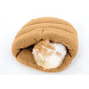 Bettli Slipper-shaped Washable Pet Bed Soft Dog House Cotton Cat Sleeping Bag (Size M).